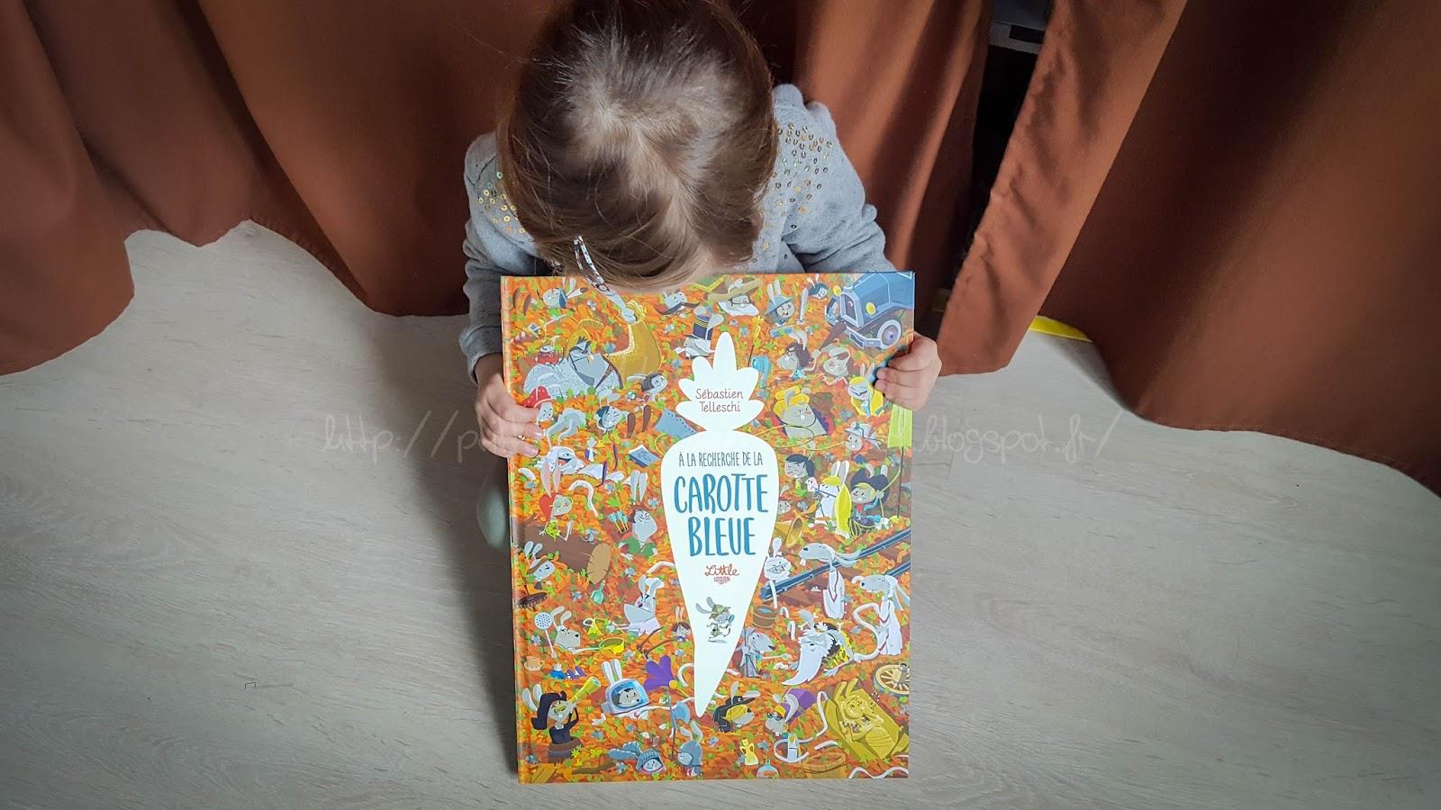 """Carotte Bleue dedans le p'tit train-train de mam'zelle a"""": dans la biblio il y a {a la"""