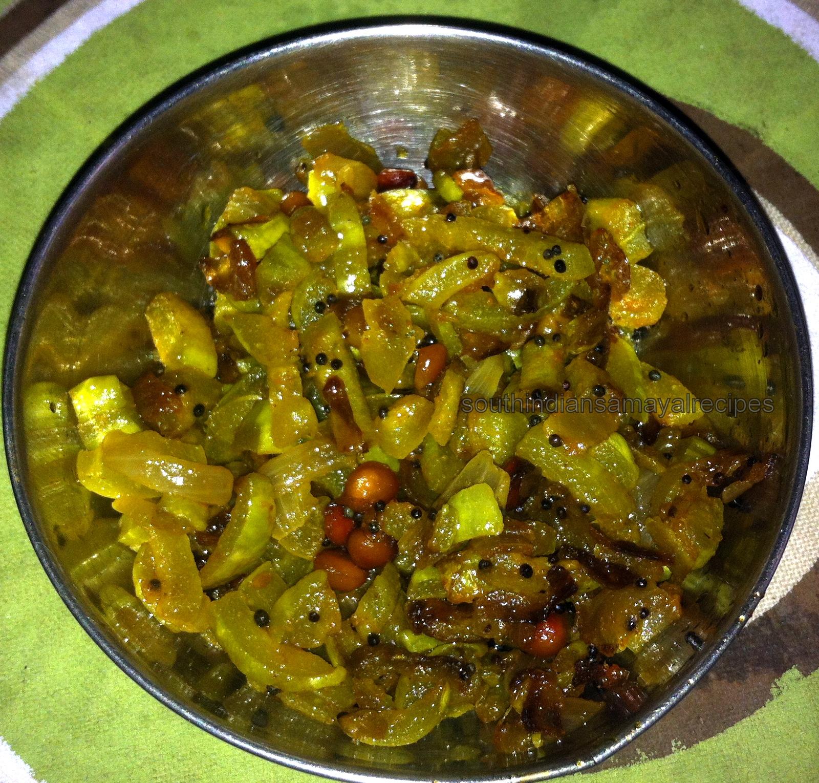 Pudalangai Poriyal / Snake Gourd   South Indian Samayal ...