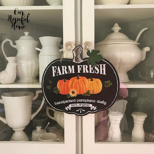farm fresh hand picked pumpkins daily 100% organic Dollar Tree sign fall decor
