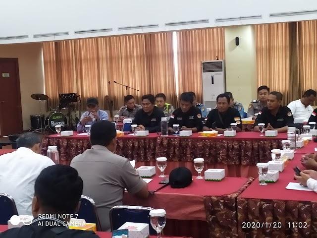 Kapolres Serang Kota Hadiri Audensi Dari Koalisi Gmaks dan PPPKRI-SAT BN di Kantor Kanwil DJKN Banten