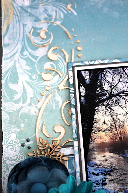 Storbron Scrapbook Page by Ulrika Wandler using BoBunny Winter Playground Collection