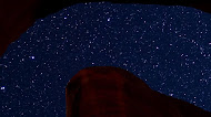 mountain rock starry sky mobile wallpaper