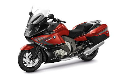 BMW K 1600 black and red color side angle Hd Image