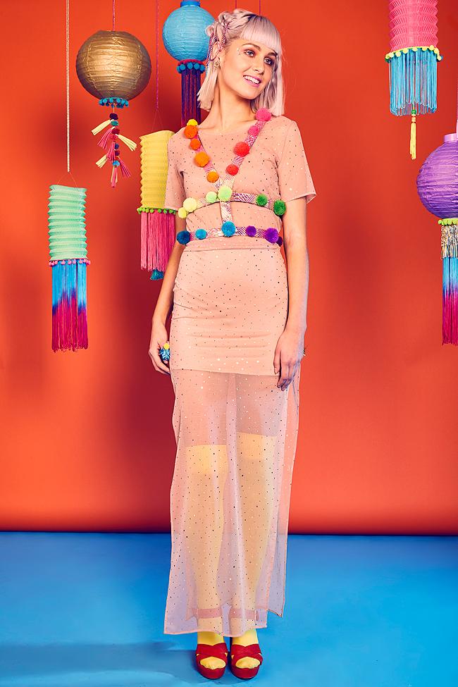Louise O'Mahony, festival fashion, pompom