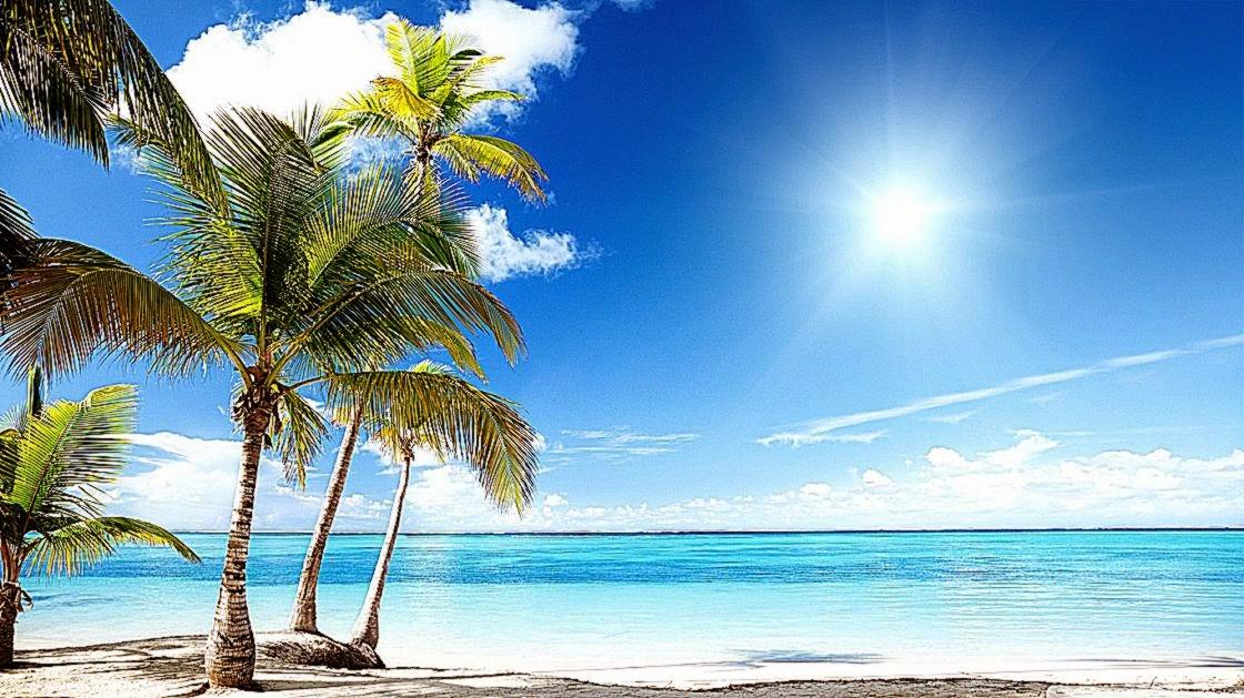 Beach Desktop Wallpaper Widescreen: Tropical Beach Paradise Backgrounds