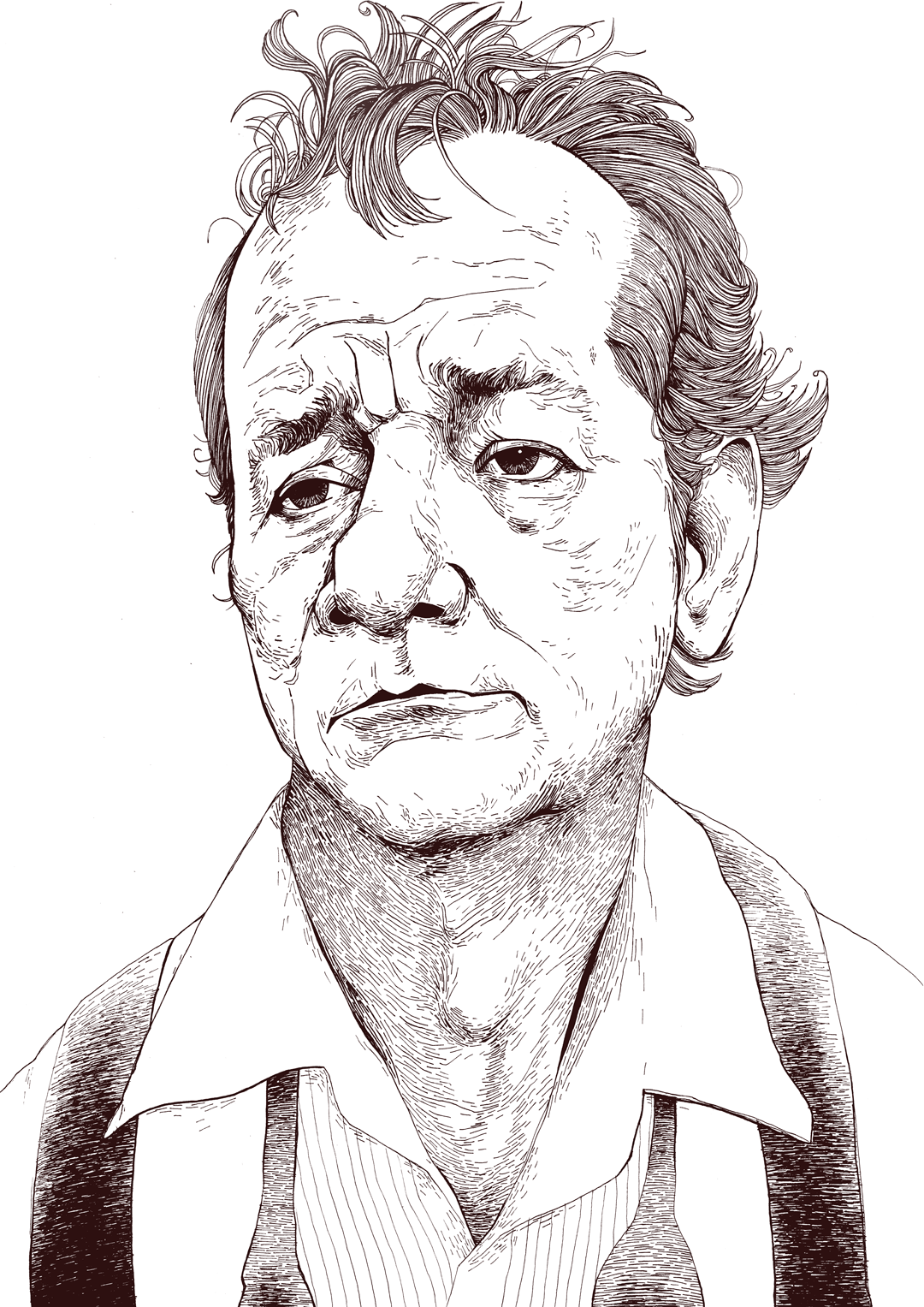 bill murray line drawing illustration