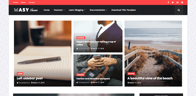 Masy Blogger Template magazine blogger theme