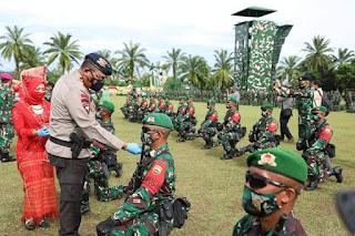 Kapolda Sumut Hadiri Pemberangkatan 450 Prajurit TNI Operasi Pamtas RI dan PNG