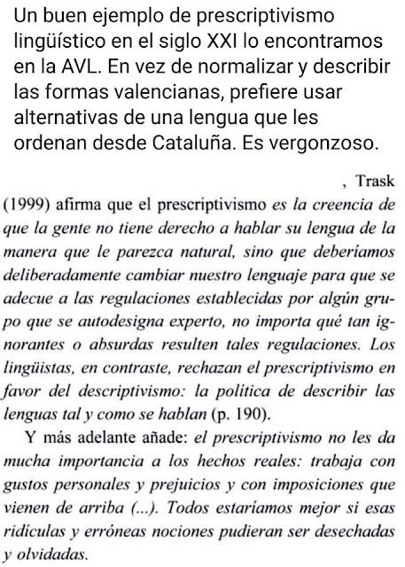 AVL, prescriptivismo lingüístico