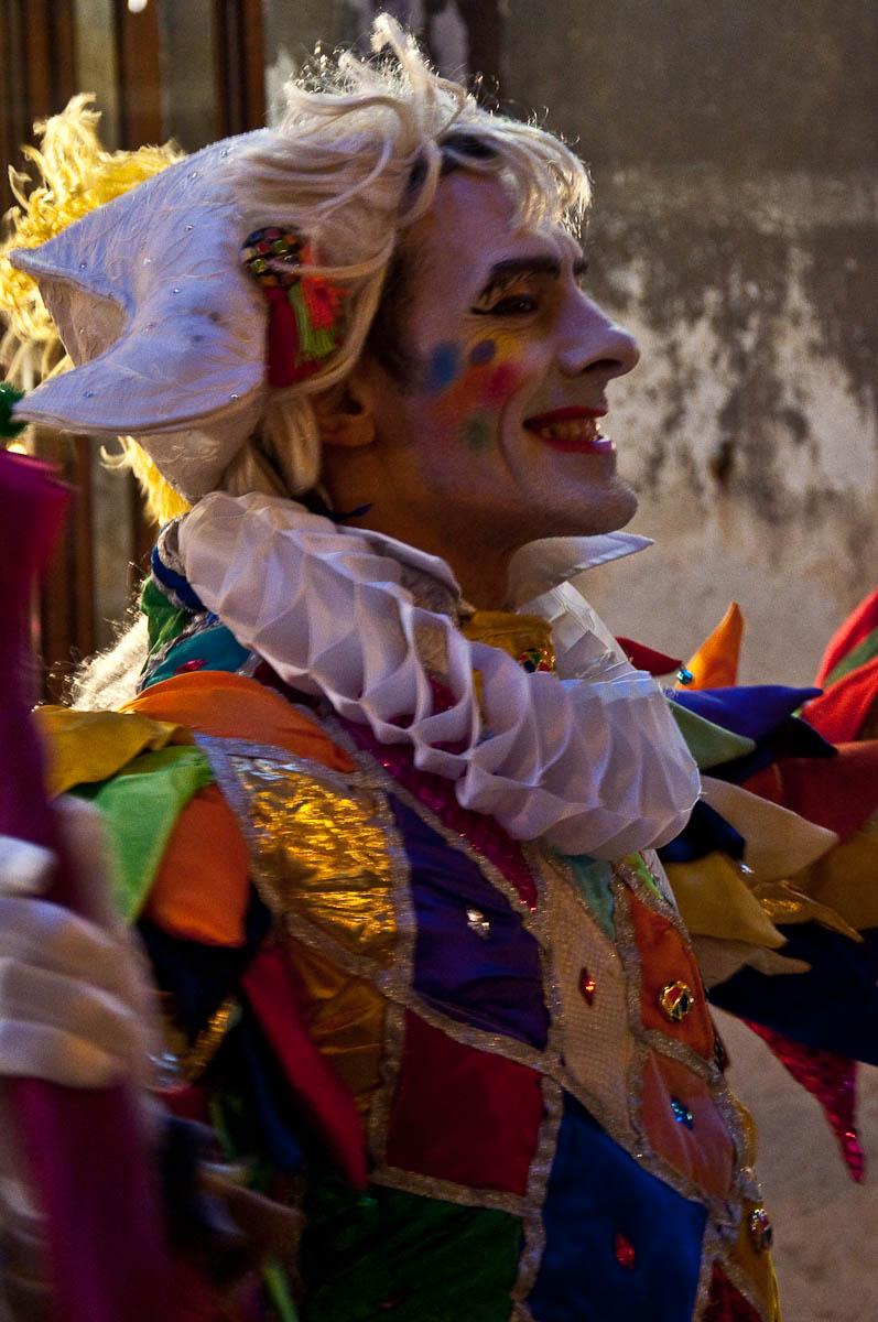 Harlequin, Cafe Florian, Venice Carnival 2011, Venice, Veneto, Italy