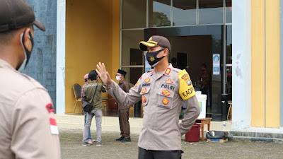 Polres Bintan gelar pengamanan dan pengawalan pencabutan nomor urut Paslon Pilkada