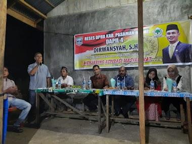 Dirwansyah, SH. Anggota DPRD dari DAPIL IV  Melaksanakan  Kegiatan RESES.