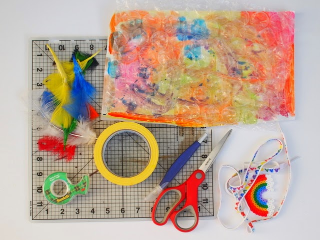 materials needed to make poppable Christmas Wrapping Paper