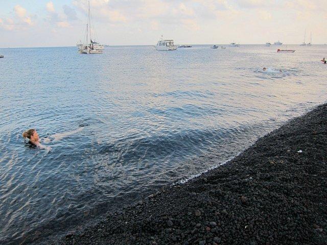 Ön Stromboli i Italien