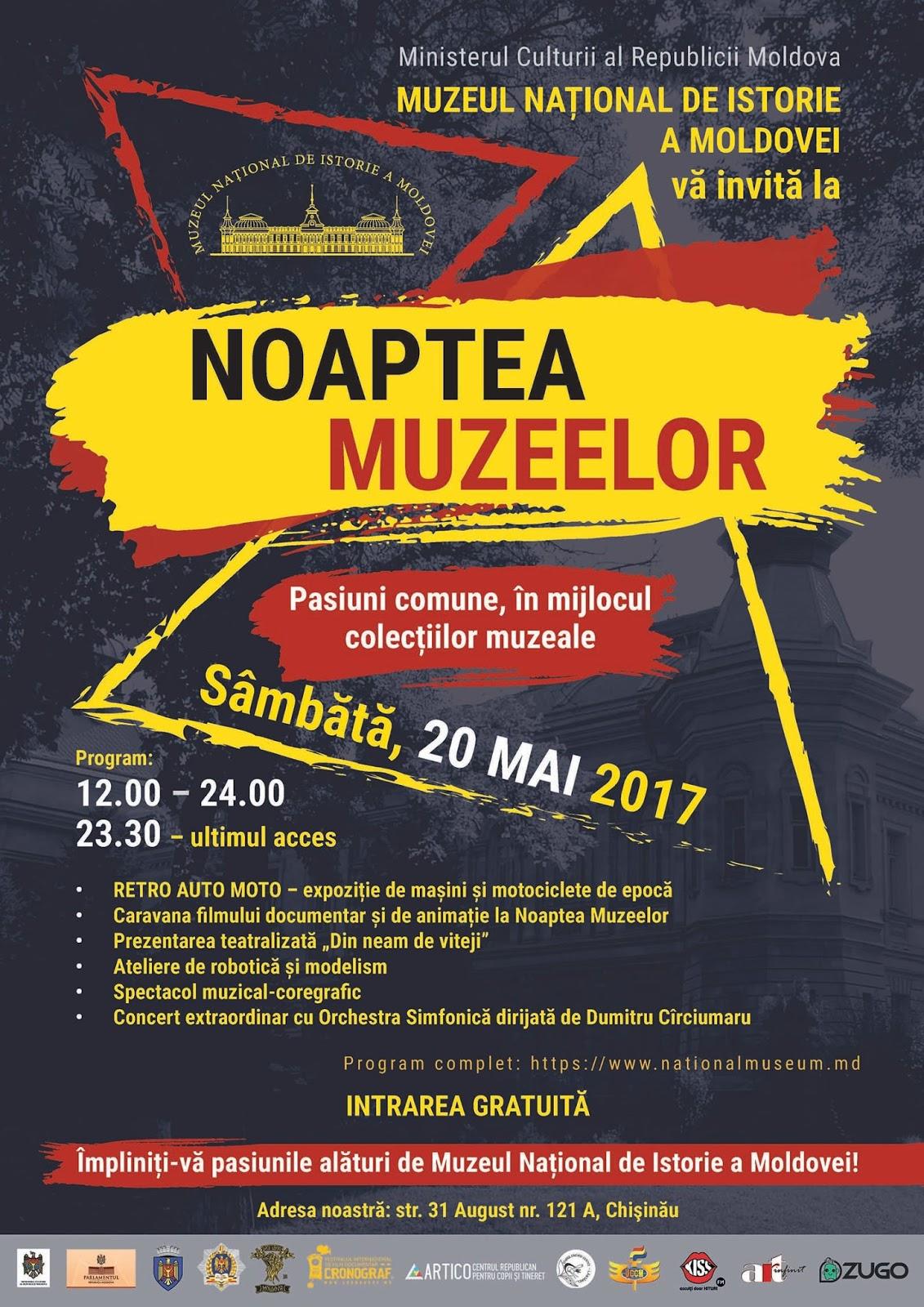 NOAPTEA EUROPEANĂ A MUZEELOR 2017