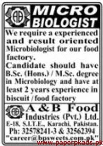 A&B Food Industries Pvt Ltd Jobs 2020