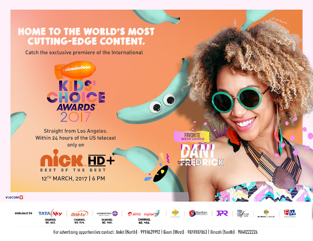 International Nickelodeon Kids Choice Awards 2017 to air in India only on Nick HD+