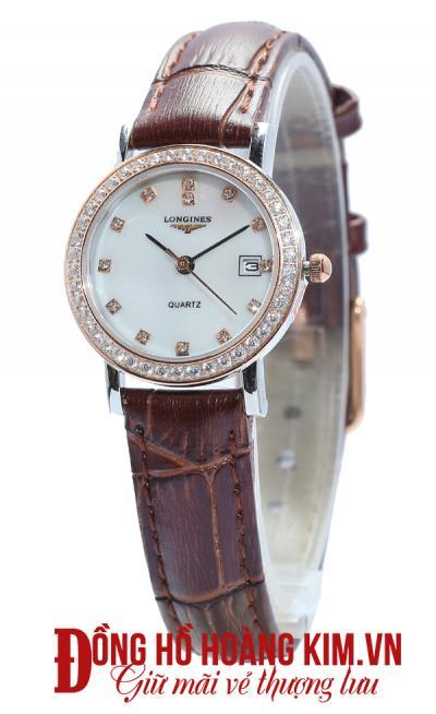 đồng hồ longines nữ dây da giá rẻ