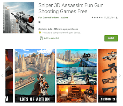 game sniper 3d android