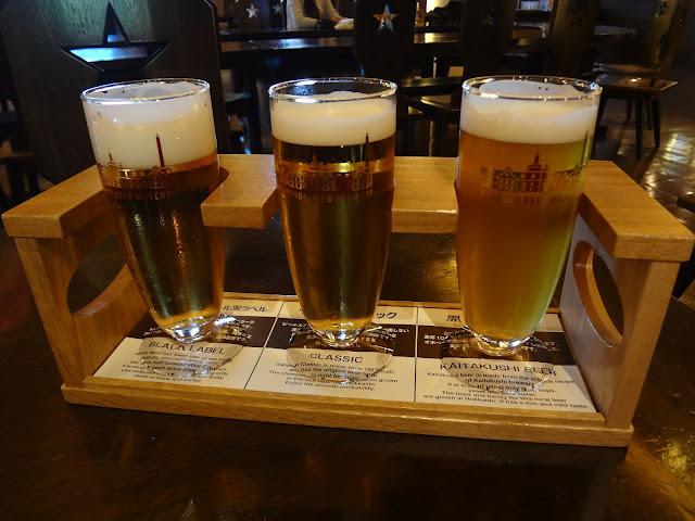 Cata de cervezas Sapporo en el museo