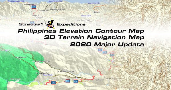 Philippine Elevation and 3D Terrain Map Update of 2020