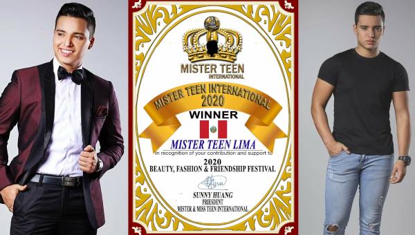 Mister Teen International 2020 es Perú