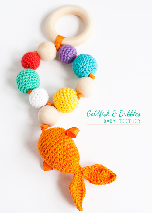 Bubbles & Goldfish Teether - Free Pattern