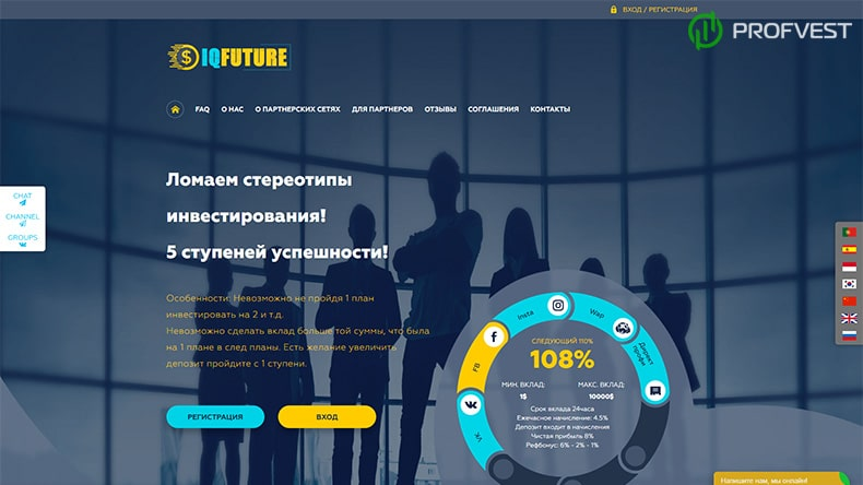 IQFuture обзор и отзывы HYIP-проекта
