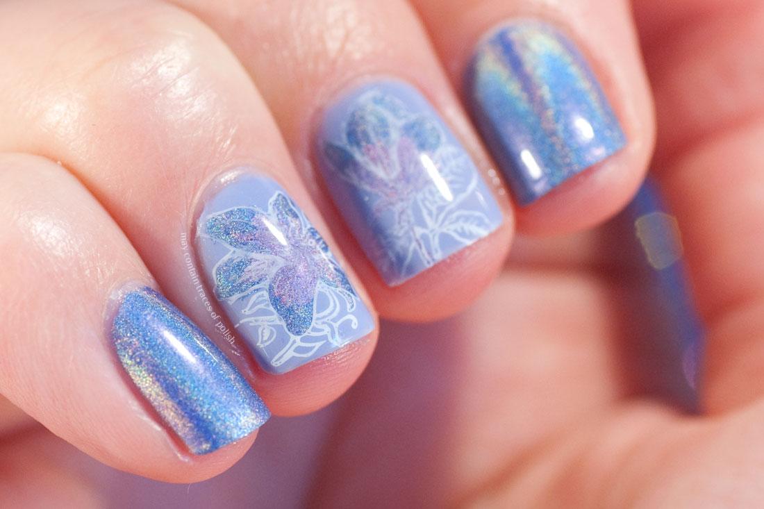China Glaze 2NITE Holo Floral Nail Art