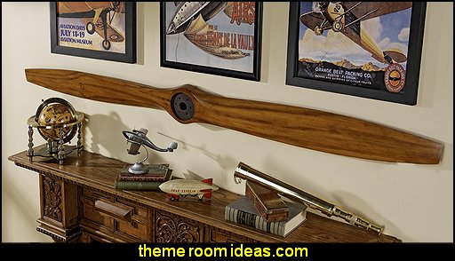 The Great War Biplane Propeller airplane theme bedroom - Aviation themed bedroom ideas - airplane bed - airplane murals - airplane room decor - Airplane rooms - airplane theme beds - airplane decor