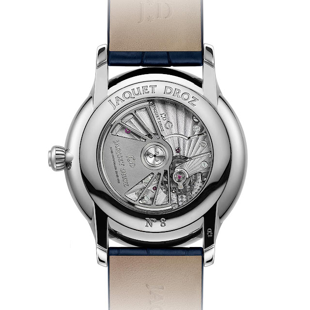 The movement of the Jaquet Droz Grande Seconde Dual Time