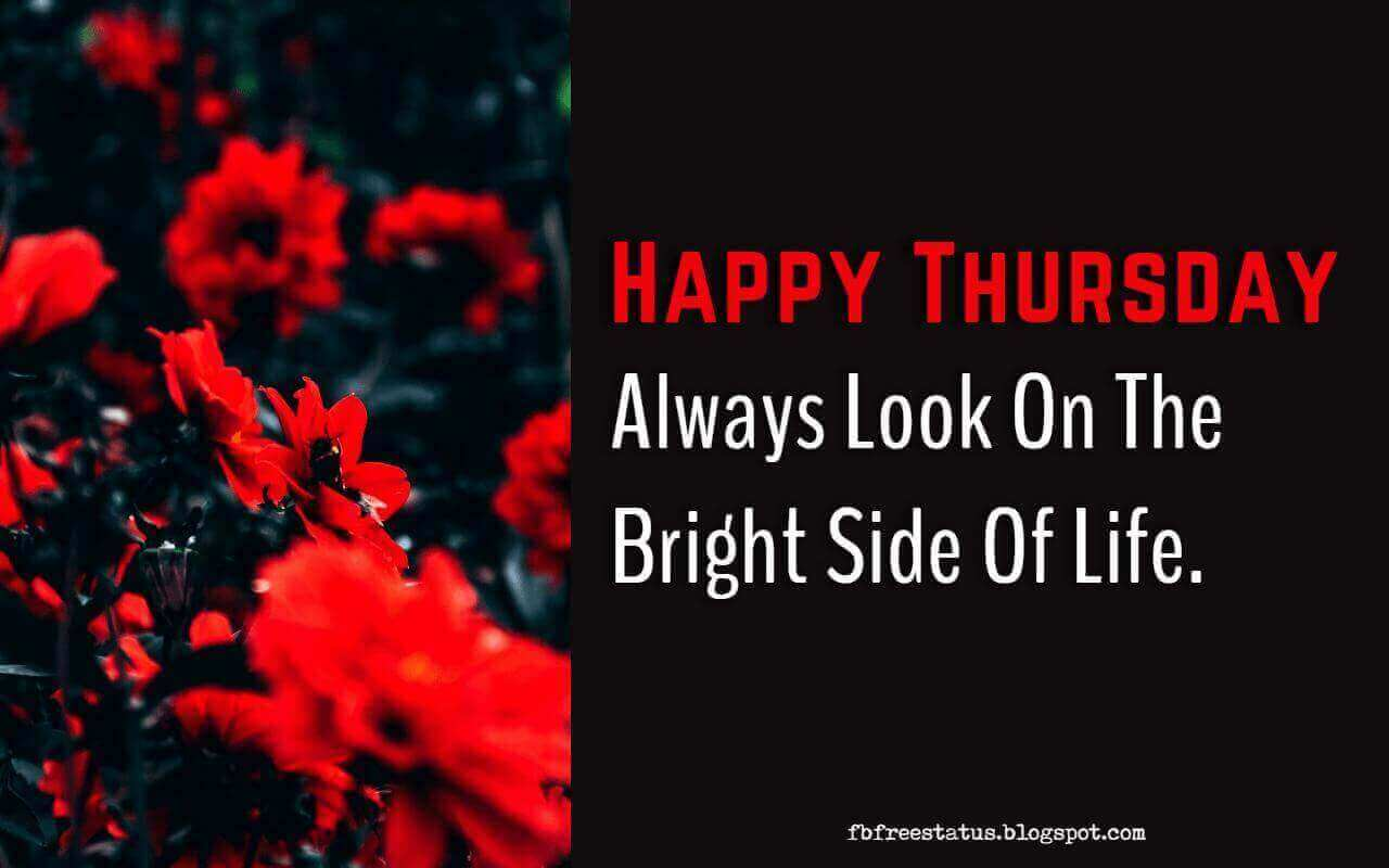 Happy Thursday, Always look on the bright side of life.