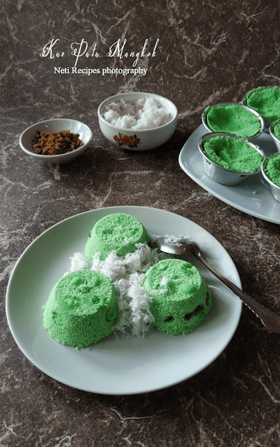 Kue putu mangkok @NetiRecipes