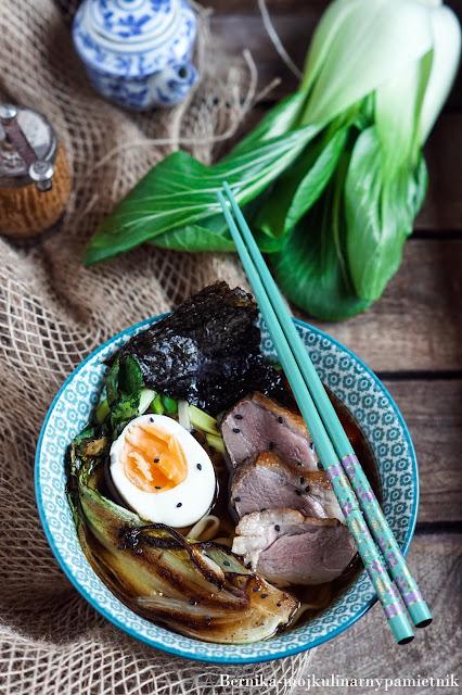 ramen, kaczka, zupa, azja, azjatyckie, bernika, makaron, obiad, kulinarny pamietnik, piers z kaczki