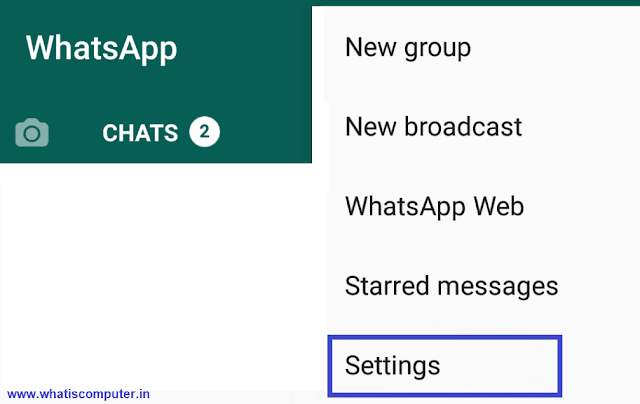 First of all open your WhatsApp and click on the three-dot in the corner and go to Setting.