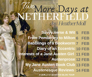 Blog Tour Schedule - Two More Days at Netherfield by Heather Moll