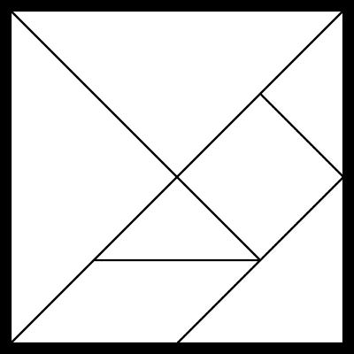 tangram en blanco