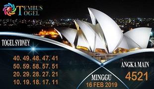 Prediksi Angka Sidney Minggu 16 February 2020
