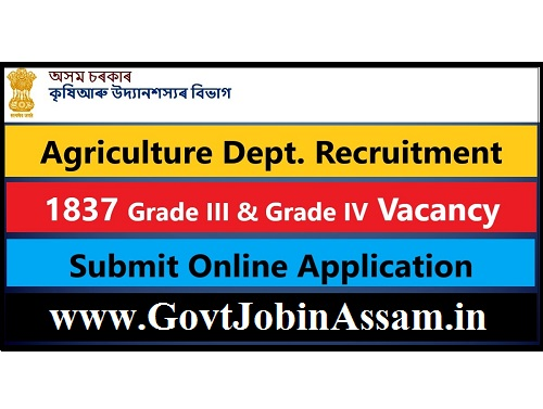 Agriculture Department Recruitment 2021 :: Apply Online For 1837 Grade III And Grade IV Vacancy