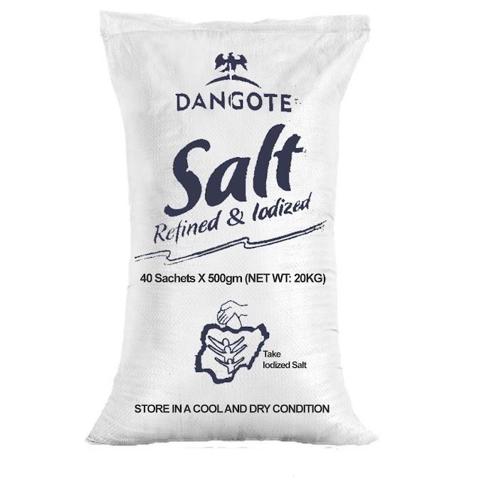 Dangote Refined & Iodized Salt 500g x 40