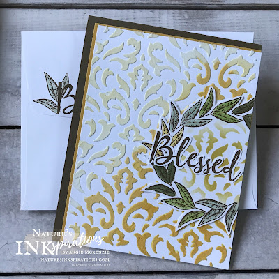 By Angie McKenzie for the Third Thursdays Blog Hop; Click READ or VISIT to go to my blog for details! Featuring the Beautiful Autumn Photopolymer Stamp Set from the Stampin' Up! Aug-Dec 2020 Mini Catalog for creating seasonal cards along with the To a Wild Rose and Country Home stamp sets from the Stampin' Up! 2020-21 Annual Catalog; #leaves #naturesinkspirations #seasonalcards #nature #beautifulautumnstampset #toawildrosestampset #countryhomestampset  #vanillaribbon #embossingpastebackground #stencilbackground #fussycutting #nature #wreathcards #fallcards #thanksgivingcards #yearroundcards #makingotherssmileonecreationatatime