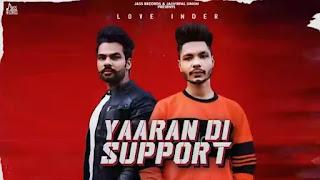 Yaaran Di Support Lyrics - Love Inder x Beat Soul