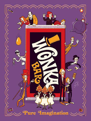 Willy Wonka and the Chocolate Factory Screen Print by Ian Glaubinger x Grey Matter Art