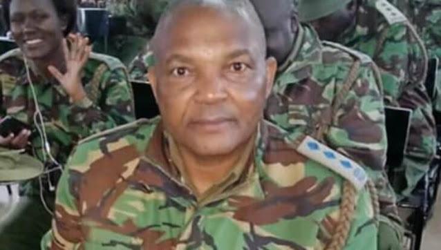 Huruma Police Station OCS, Chief Inspector Simon Ndeti Photo