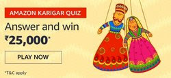 Amazon Karigar Quiz Answers and Win Rs.25000