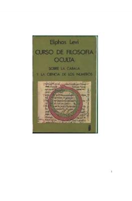 Descargar ebook pdf esotérico gratis Curso de Filosofia Oculta