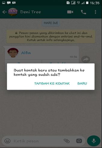 Buat Kontak Baru Whatsapp