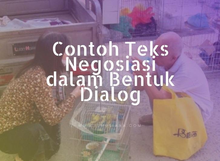 Contoh Teks Negosiasi dalam Bentuk Dialog