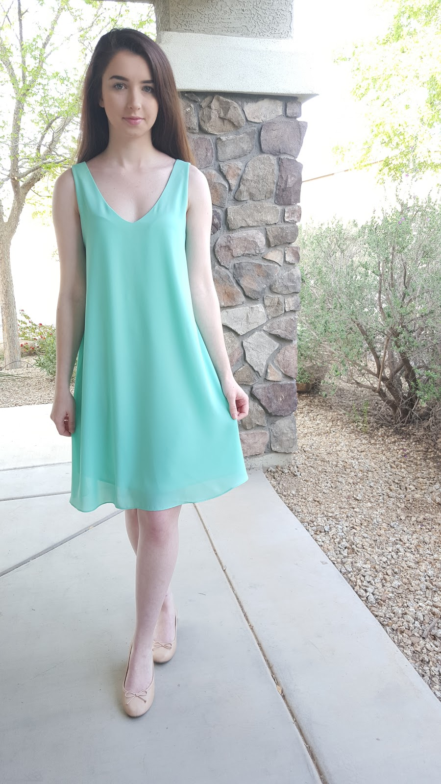 simple chiffon shift dress from PinkBlush