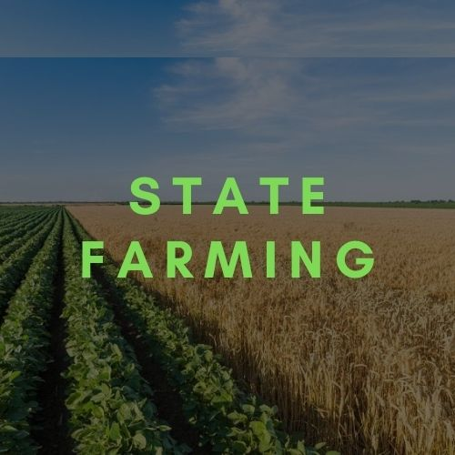 What is state farm vs what is state farming? types of farming and farming system, advantages of state farming.